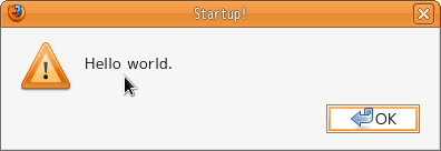 """alert message : 'Hello world.'"""